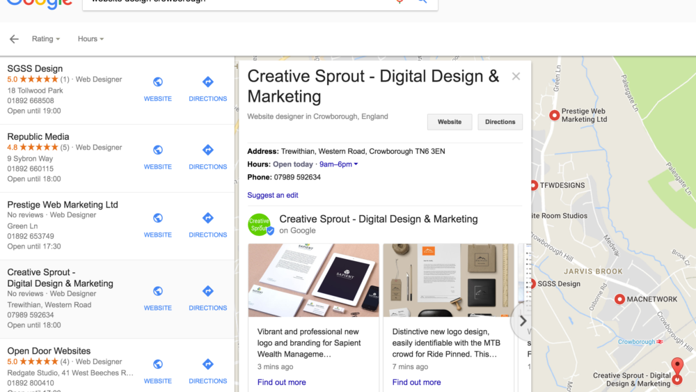 Google My Business - Post Example