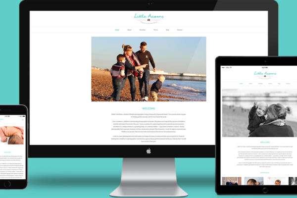 Little Acorns Photography Website