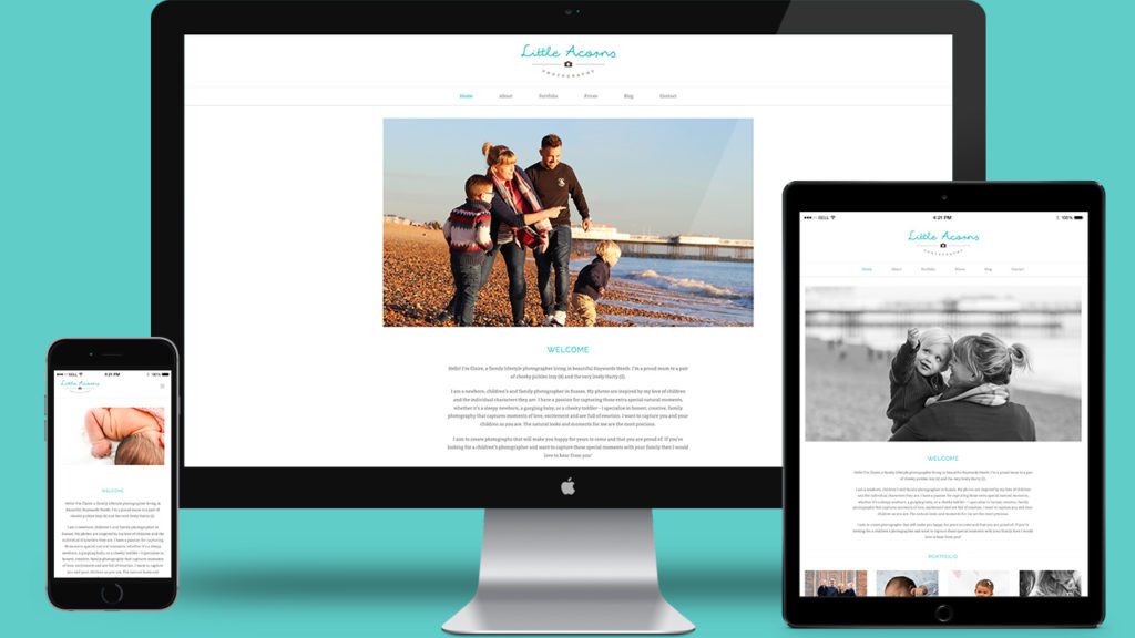 Little Acorns Photography - Website Design & WordPress Development