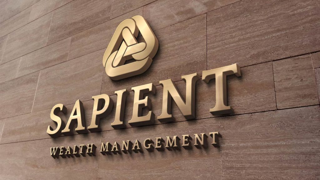 Sapient Wealth Management - Wall Sign Mock-up