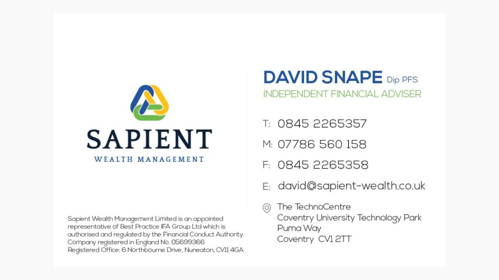 Sapient Wealth Management - Business Card