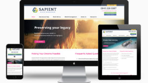 Sapient Wealth Management - Responsive Website